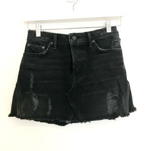 Black Denim Skirt by GRLFRND